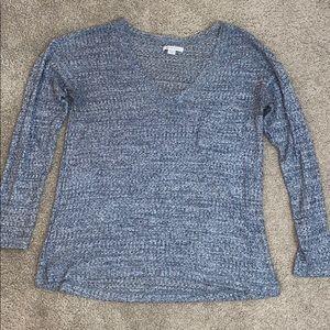 American Eagle blue knit long sleeve tee